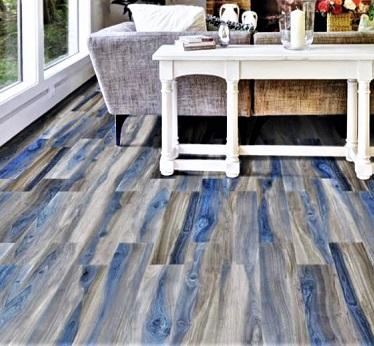 gres effetto legno blu